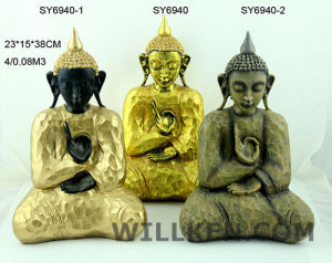 Sitting Resin Gold Indoor Decorative Thai Buddha Statue