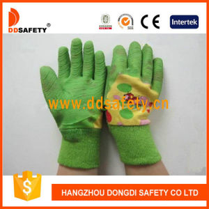 Green Latex Kids Garden Glove Safety Gloves Dcl524 pictures & photos