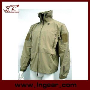 Military Winter Jacket Men′s Coat Motorcycle Sharkskin Jacket pictures & photos