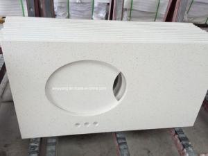 Bathroom Solid Surface White Quartz Vanity Top pictures & photos