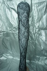 Sexy Stocking Black Tights with Plume Pattern 2001 pictures & photos