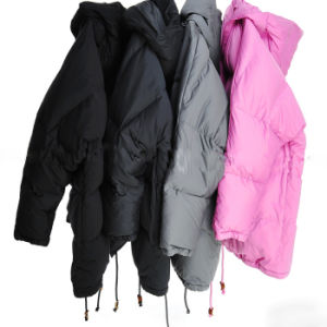 Three Colors High Grade Lady′s Long Down Coat Winter Jacket with Competitive Price pictures & photos