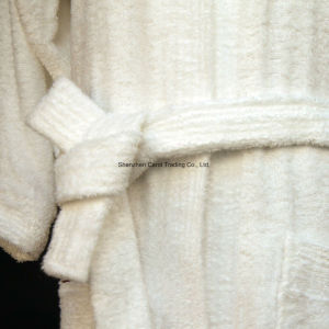 Terry Cotton Velvet Hotel Textile SPA Bathrobe Hotel Bathrobe pictures & photos