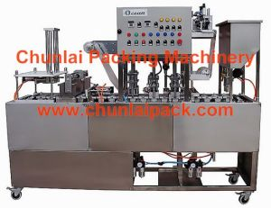 Plastic Cup Washing Filling Sealing Machine pictures & photos