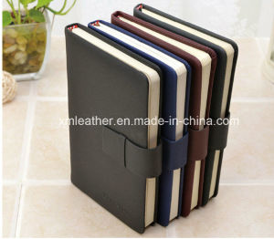 Hardcover A5 PU Leather Writing Journal Notebook with Magnetic Closure pictures & photos