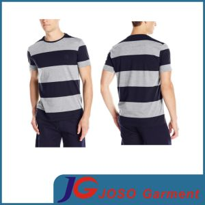 Fashion Strip Cotton Crew Neck Casual T- Shirts (JS9013m) pictures & photos