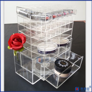Black Rotating Customerized Acrylic Lipstick Holder with Logo pictures & photos