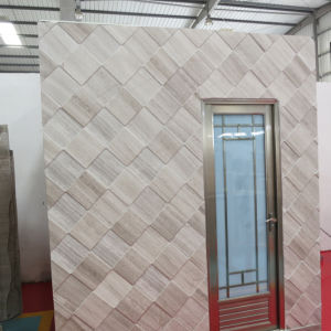 Polished Interior Decoration Wood Grain Marble Slab for Flooring Wall (YQG-MT1008) pictures & photos