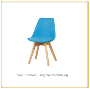 Leisure Garden Chairs (Red PU Cover and Black Wooden Legs) pictures & photos