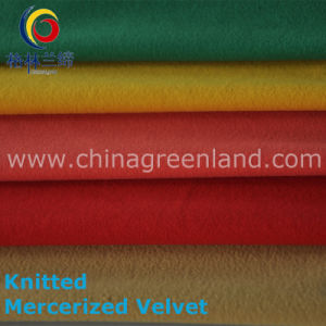 Polyester Cotton Knitted Mercerized Velvet for Woman Cloth (GLLSGR001) pictures & photos