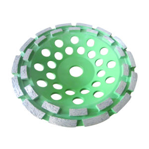 "180mm/7""Double Row Diamond Grinding Disk for Concrete and Stone pictures & photos"