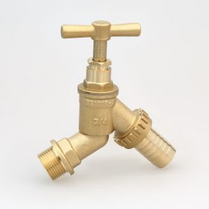 "Brass Stop Cock 1/2"", BS1010 Hose Tap (Hx-2005) pictures & photos"