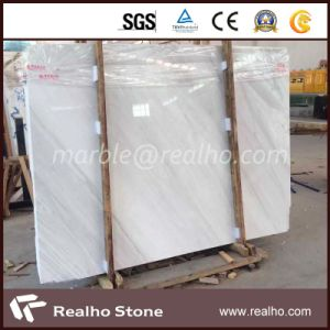 Polished White Volakas Marble Slab