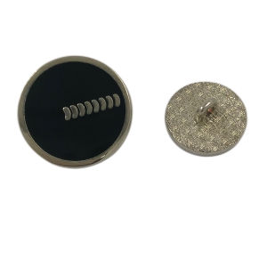Clothing Accessory Custom Epoxy 20mm Round Metal Shank Button pictures & photos