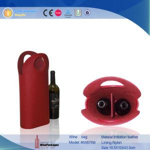Popular Luxury Three Bottles Wine Bag (6431) pictures & photos