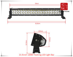 LED Car Light 21.5 Inch 120W Flashing LED Light Bar for SUV Car LED off Road Light and LED Driving Light pictures & photos