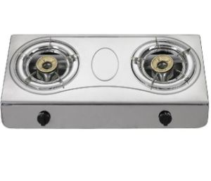 Stainless Steel Double Burner Gas Hob, Gas Stove pictures & photos