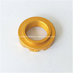 Yellow Anodized Alloy Steel Parts, CNC Machining Bushing pictures & photos