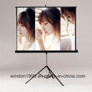 "70""X70"" Mobile Tripod Projection Screen for Projector pictures & photos"