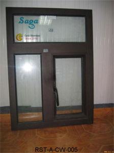 Classic Brown Color Aluminum Casement Window Saga Window