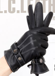 High Quality Fashion Warm Motorcycle Leather Gloves pictures & photos