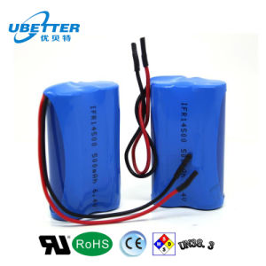 LiFePO4 Battery Pack 6.4V500mAh Ifr14500 pictures & photos