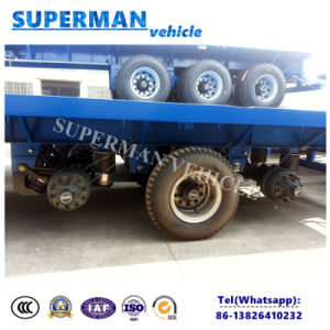 3 Axle Flatbed Truck Semi Trailer with Airbag Suspension to Africa pictures & photos