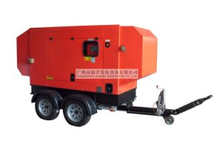 10kVA Yto Engine AC 3 Phase 4 Strocks Water Cooling Silent Mobile Trailer Generator pictures & photos