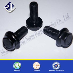 China Supplier Black Zinc Plated Flange Bolt with Garde 10.9 pictures & photos