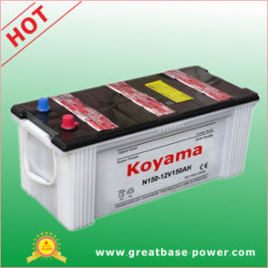 N150- 150ah 12V Dry Charged Auto Battery for Heavy Duty Truck pictures & photos