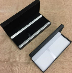 Luxury Black Leather Sign Pen Gift Box with Button pictures & photos