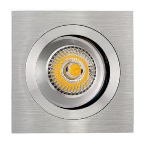 Lathe Aluminum GU10 MR16 Square Recessed Tilt Downlight (LT2309B) pictures & photos