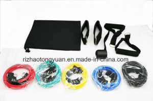 11PCS Resistance Bands with Foam Handles for Yoga Pilates ABS Exercise Tube Workout Fitness Kits pictures & photos