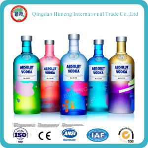 375ml/500ml/700ml/750ml /1L Clear Crystal Glass Bottle for Liquor/Spirits pictures & photos