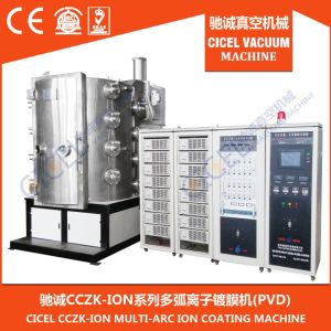 Cicel Golden, Rose Gold, Black, Blue, Rainbow Color Multi Arc Ion PVD Coating Machine for Stainless Steel, Glass, Metal, Ceramic, Crystal pictures & photos