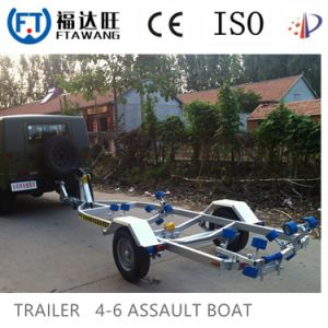 Galvanized Sigle Axle Yacht Trailer with LED Tail Light pictures & photos