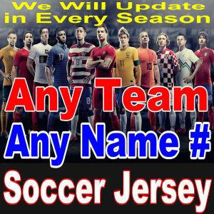 New Season Soccer Jersey Football Club Short & Long Sleeve Men Lady Kids National Team Home Away Red White Light Blue Black Yellow Green Orange Shirt 1718 17/18
