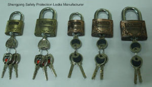 30mm Antique Brass Coating Zinc Alloy Padlock (Z630) pictures & photos