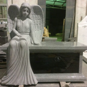 Granite Sitting Angel Bench Monument pictures & photos