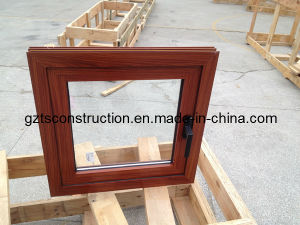 Aluminum Wood Grain Powder Coating Casement Window with Thermal Break pictures & photos