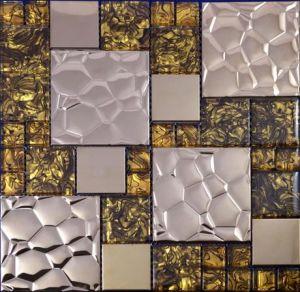 Golden & Silver Color Mix Luminous Mosaic Tiles for Kitchen Backsplash pictures & photos