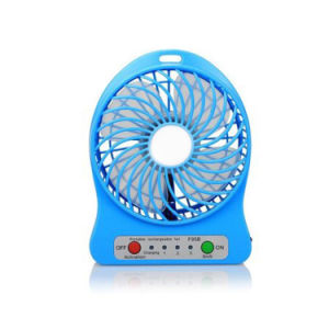 USB Portable Mini Phone Rechargeable Fan with LED Lamp pictures & photos