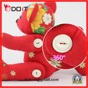 Stuffed Toy Bear Red Flower Chinese Classic Cloth Toy Bear pictures & photos