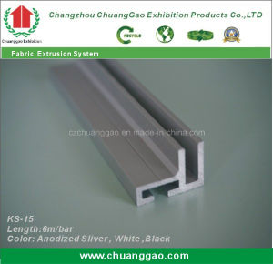 Ks-15 High Quality Aluminium Fabric Frame Extrusion pictures & photos