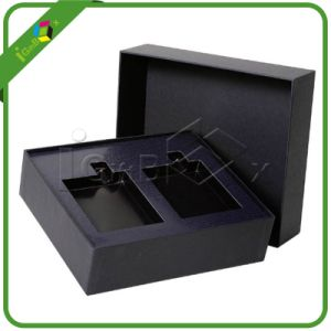 Black Matte Paper Empty Cardboard Gift Boxes with Insert pictures & photos