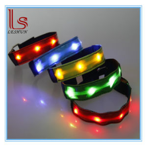 LED Sport Flashing Nylon Arm Belts for Protection pictures & photos