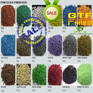 Green Artificial Grass Infill EPDM Rubber Granules, 4mm Size