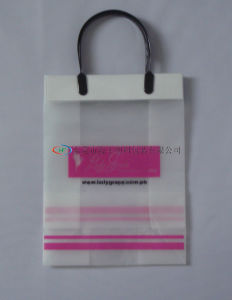 Rigid Snap Handle Bag/Plastic Bag/Plastic Handle Shopping Bag pictures & photos