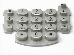 RoHS Standard Spray Coating Conductive Silicone Housing Telephone Keypad pictures & photos