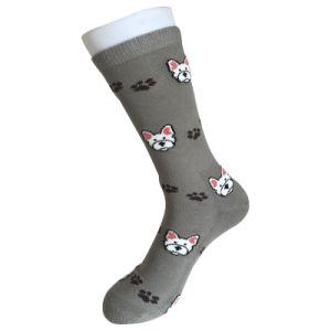 Half Cushion Cotton Fashion Logo Sport Little Dog Socks (JMCC02) pictures & photos